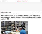 El Ayuntamiento de Estepona recupera dos libros con nacimientos registrados en el municipio en el reinado de Isabel II