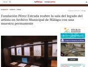 Fundación Pérez Estrada reabre la sala del legado del artista en Archivo Municipal de Málaga con una muestra permanente