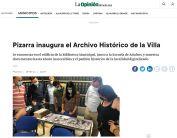 Pizarra inaugura el Archivo Histórico de la Villa