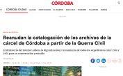 Reanudan la catalogación de los archivos de la cárcel de Córdoba a partir de la Guerra Civil