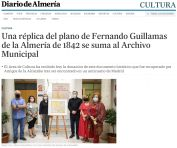 Una réplica del plano de Fernando Guillamas de la Almería de 1842 se suma al Archivo Municipal