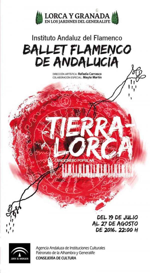 Cartel de 'Tierra-Lorca. Cancionero popular'