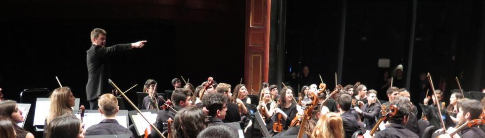 La Orquesta Joven de Andalucía en el Teatro Villamarta de Jerez de la Frontera. 9 enero 2015 @Foto: María Marí-Pérez