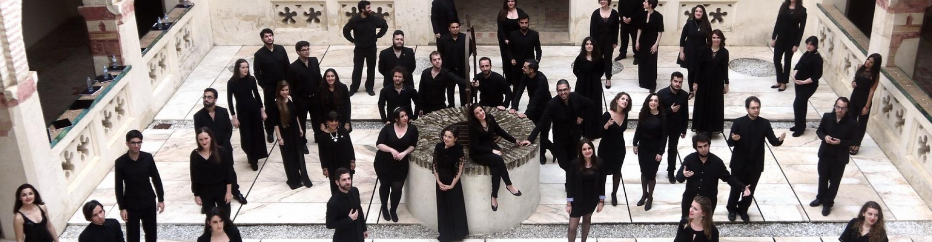Joven Coro de Andalucía en el Monasterio San Isidoro del Campo (Santiponce). 5 abril 2015 @ Foto: Cristobal Romero