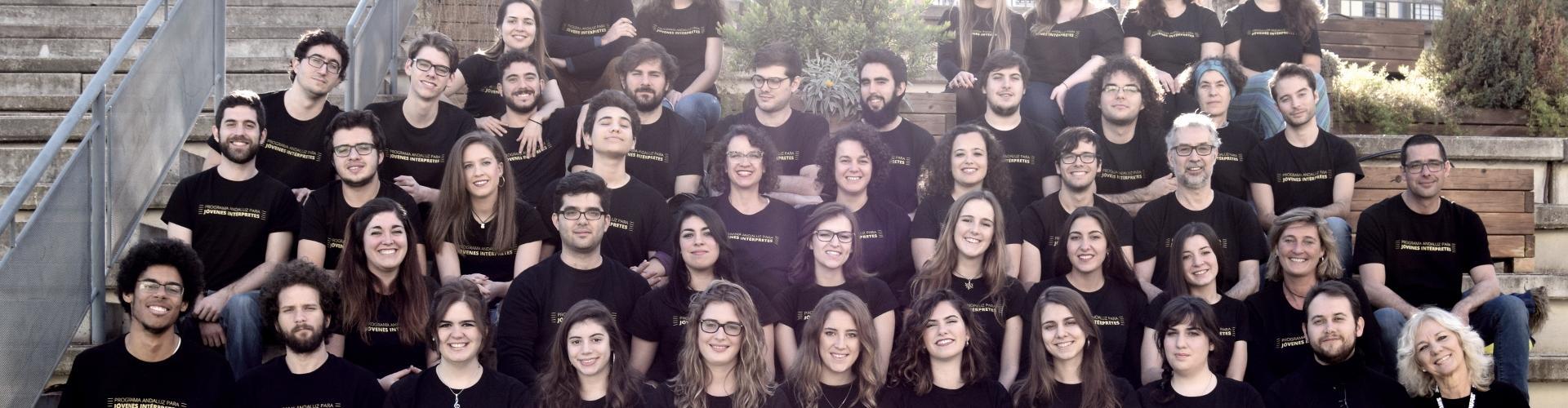 El Joven Coro de Andalucía en el encuentro de Enero de 2017 @Foto: Olga Cordero