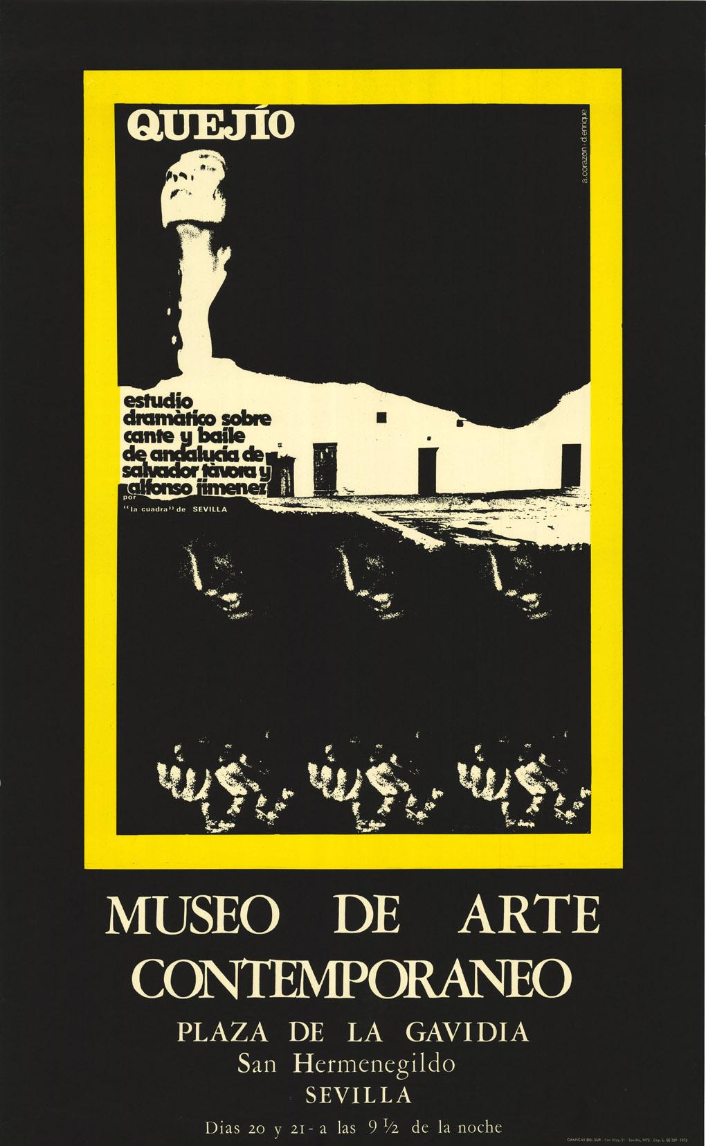 Cartel de Quejío. Museo de Arte Contemporáneo. Sevilla