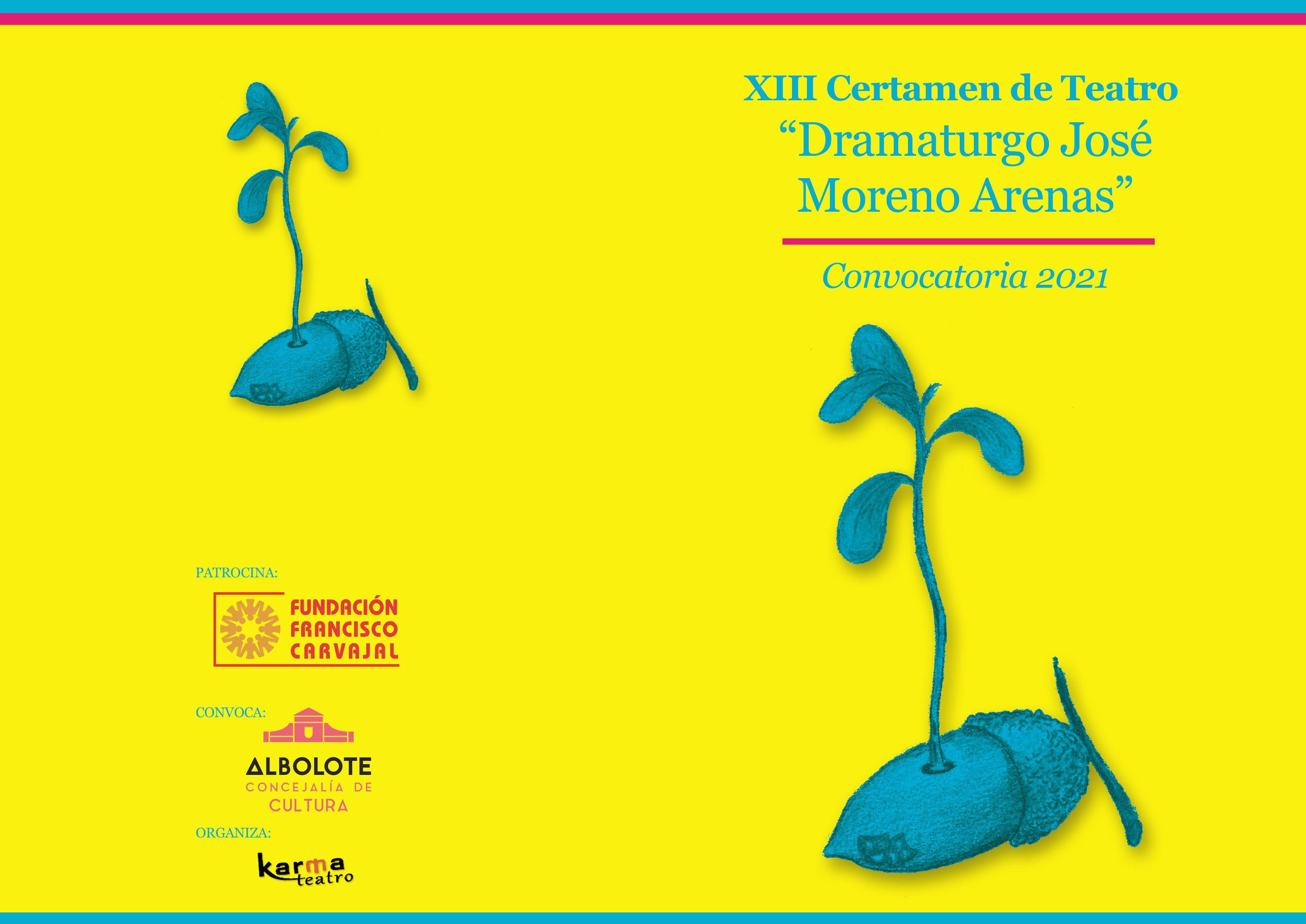 """Bases del XIII Certamen de Teatro """"Dramaturgo José Moreno Arenas"""""""