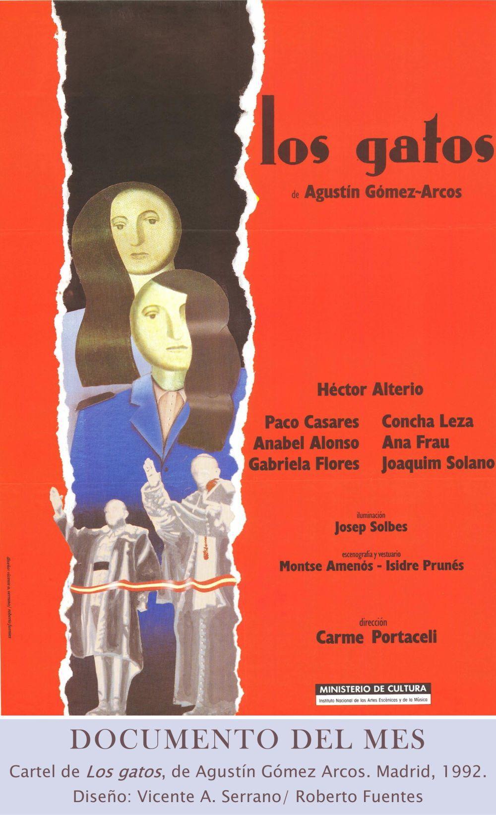 Cartel de Los gatos, de Agustín Gómez Arcos.