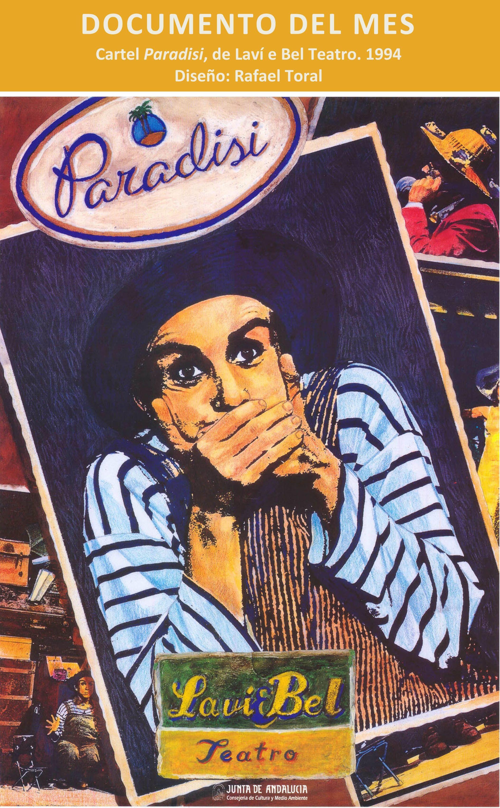 Cartel de Paradisi, de la compañía granadina LavieBel (1994)