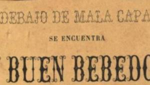 """""""Debajo de mala capa se encuentra un buen bebedor"""" de José Velázquez y Sánchez"""