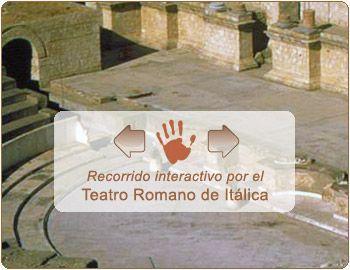 Recorrido interactivo por el Teatro Romano de Itálica. En ventana nueva. El contenido de esta sección no cumple la norma WAI-AA