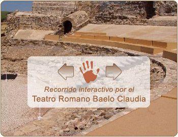 Recorrido interactivo por el Teatro Romano de Baelo Claudia. En ventana nueva. El contenido de esta sección no cumple la norma WAI-AA
