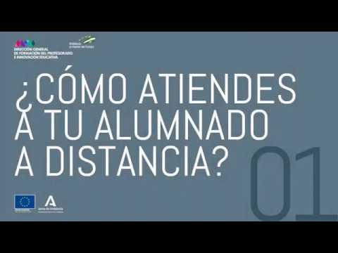 Vídeo sobre cómo atiendes a tu alumnado a distancia
