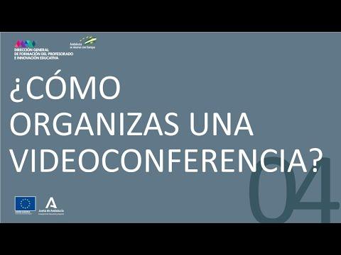 Vídeo sobre cómo organizas una videoconferencia