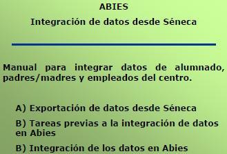 Manual de Integración de datos desde Séneca