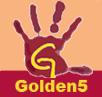 Golden 5 logo cuadrado