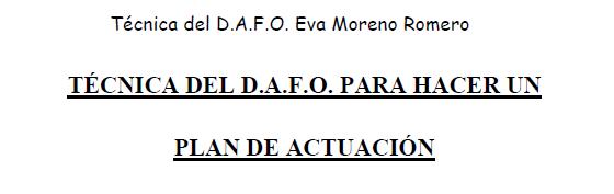 Plan DAFO Eva Moreno