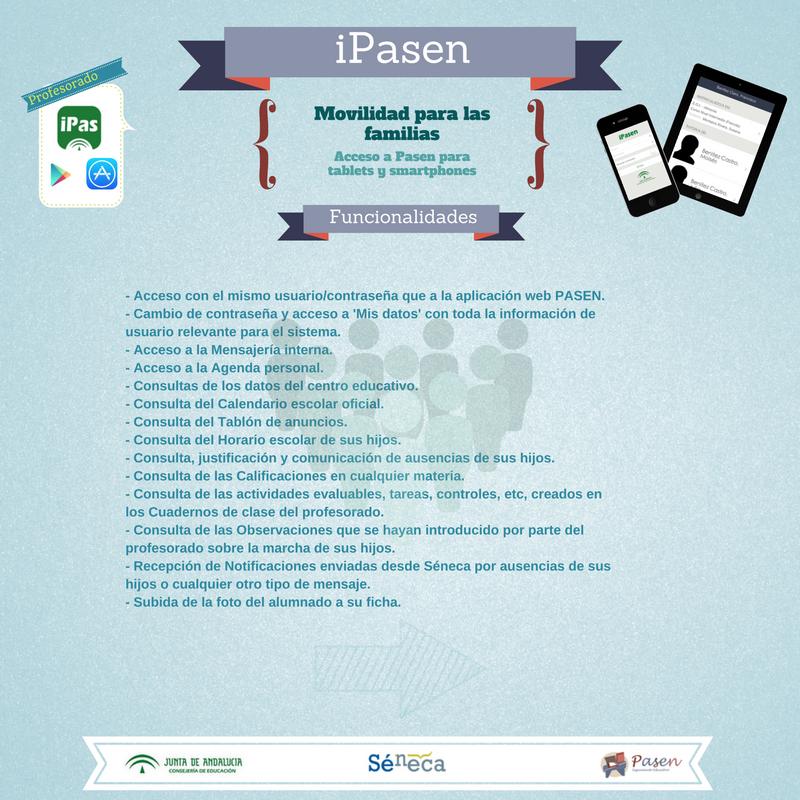 Funcionalidades de iPasen