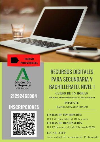 Recursos Digitales Secundaria y Bachillerato