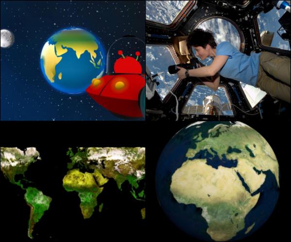 Observación de la Tierra ( collage observar la tierra.jpg )
