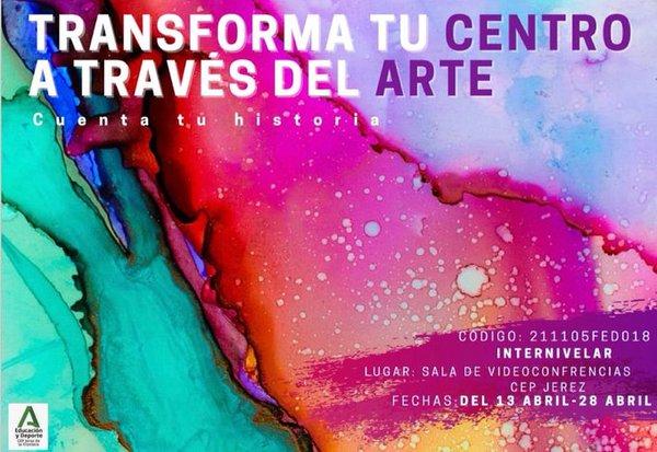 Curso TRANSFORMA TU CENTRO A TRAVES DEL ARTE: CUENTA TU HISTORIA.