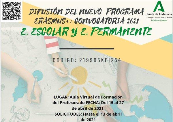 Actividad formativa: Difusión del programa Erasmus+: Convocatoria 2021
