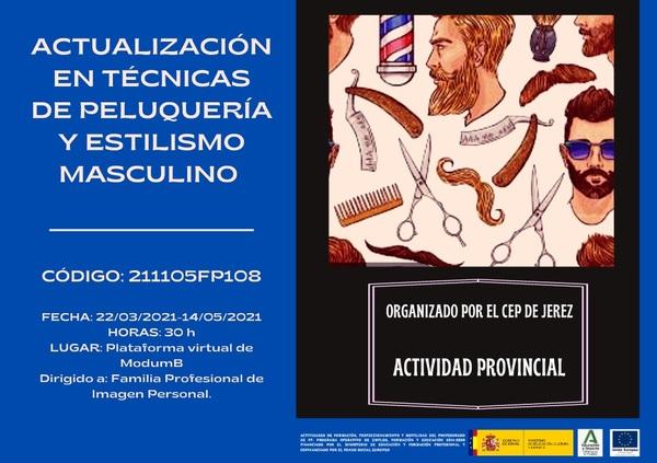 ACTUALIZACIÓN EN TÉCNICAS DE PELUQUERÍA Y ESTILISMO MASCULINO