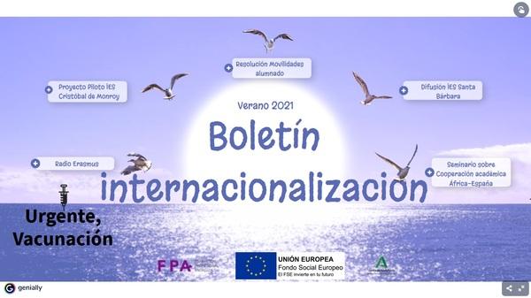 imagen boletín internacionalización verano 2021
