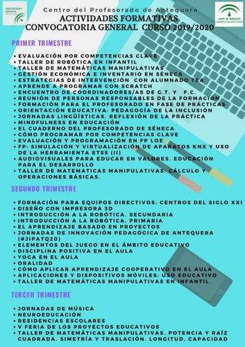 Cartel con actividades del CEP