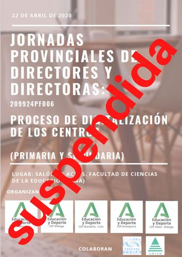 Suspendida Jornadas directores