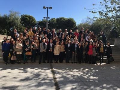 Fotografía de grupo de los asistentes a la reunión anual de Aulas Confucio 9/11/2017