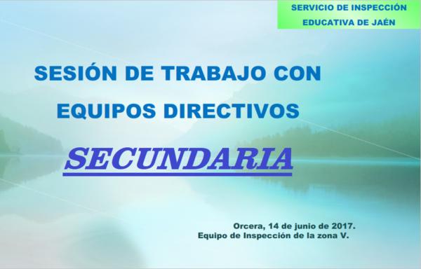 Presentación de la Inspección Educativa SECUNDARIA