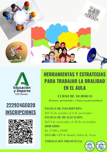 HERRAMIENTAS Y ESTRATEGIAS PARA TRABAJAR LA ORALIDAD EN EL AULA.