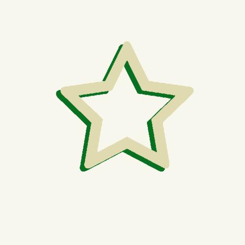 Estrella verde-beig fondo claro