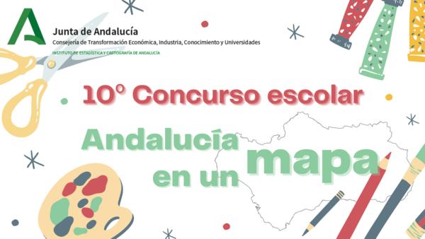 Cartel concurso Andalucía en un mapa