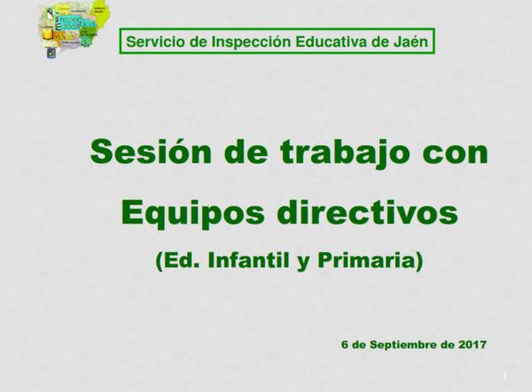 Sesión con equipos directivos de primaria