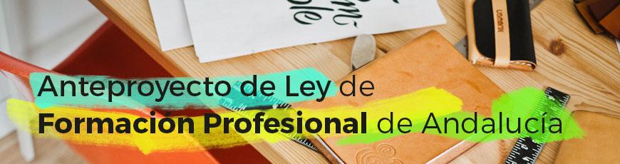 Anteproyecto de Ley de Formación Profesional de Andalucía