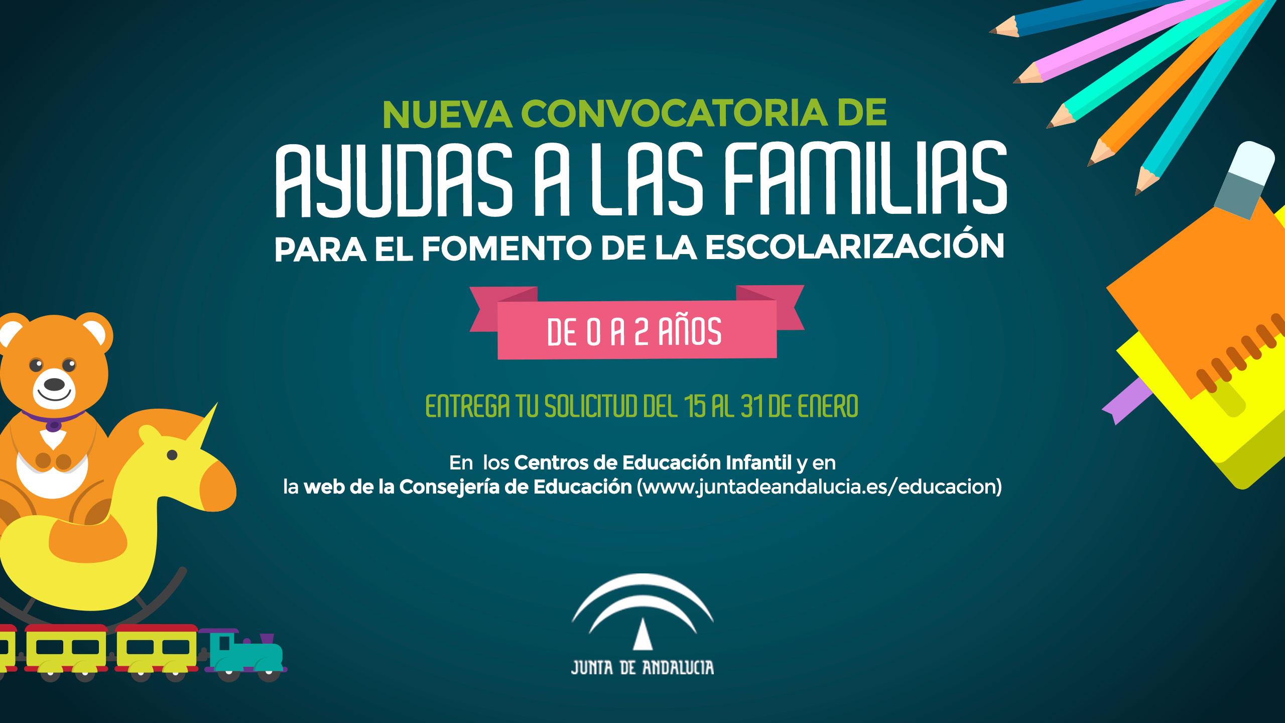 Convocatoria de ayudas a las familias para el fomento de la escolarización