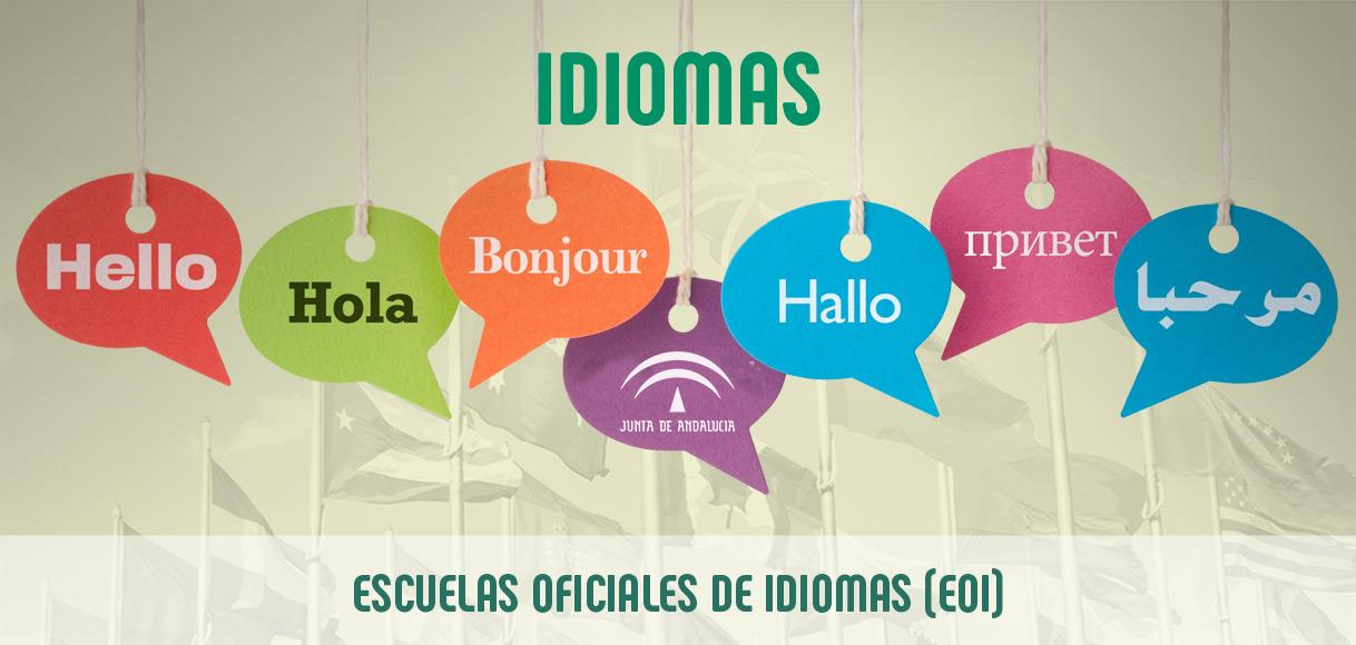 Idiomas en Escuelas Oficiales de Idiomas (EOI)