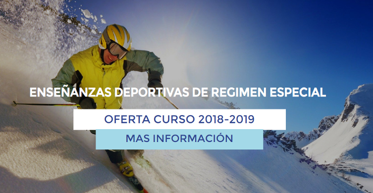 Enseñanzas Deportivas de Régimen Especial - Oferta curso 2018 - 2019