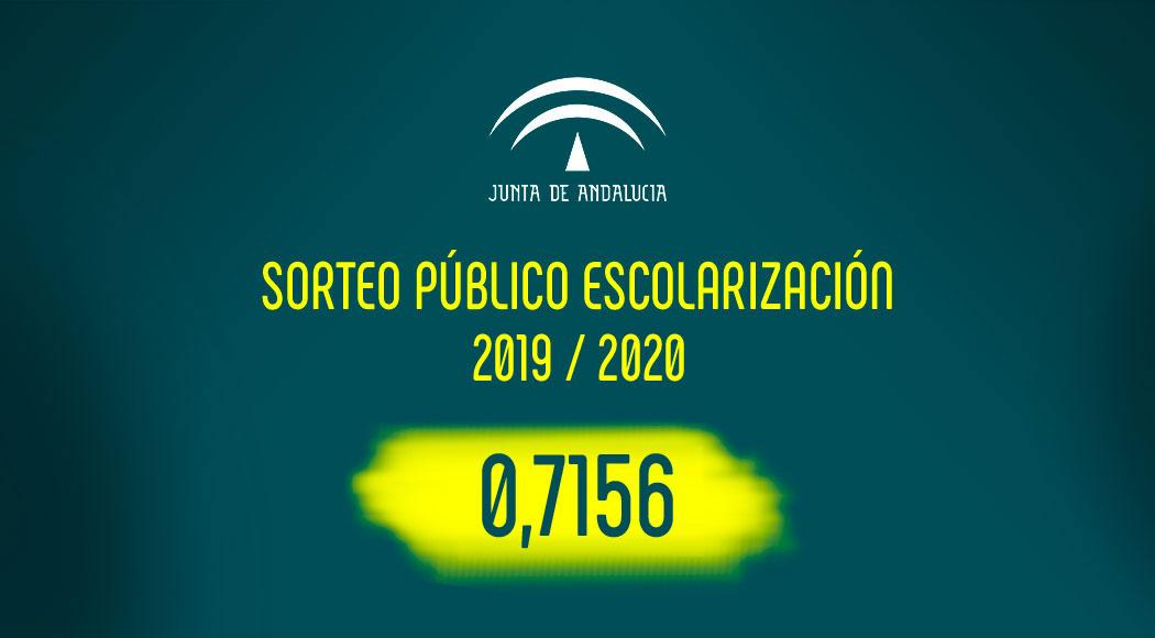 Sorteo Público Escolarización 2019 / 2020 : 0,7156