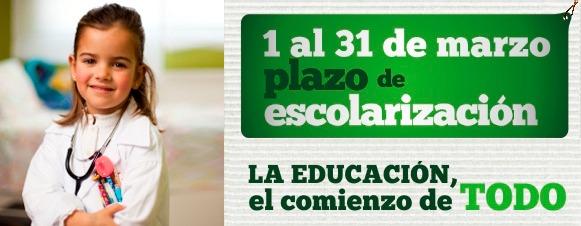 Escolarización para el curso escolar 2016/17