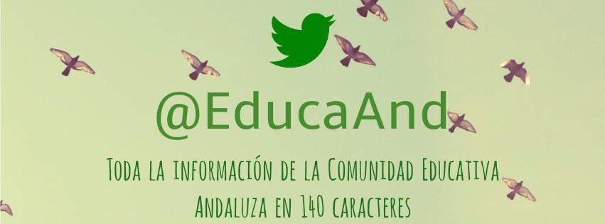 Twitter de la Consejería de Educación
