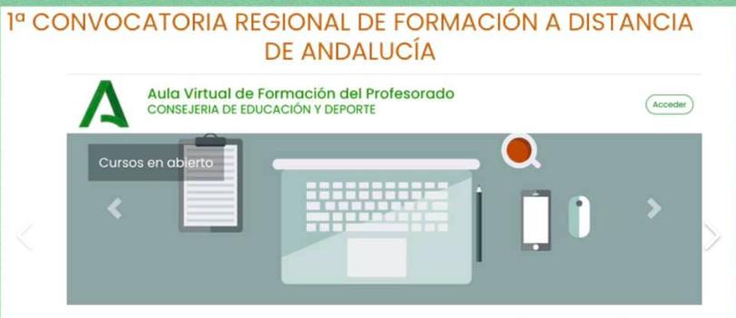 1ª Convocatoria regional de formación a distancia de Andalucía