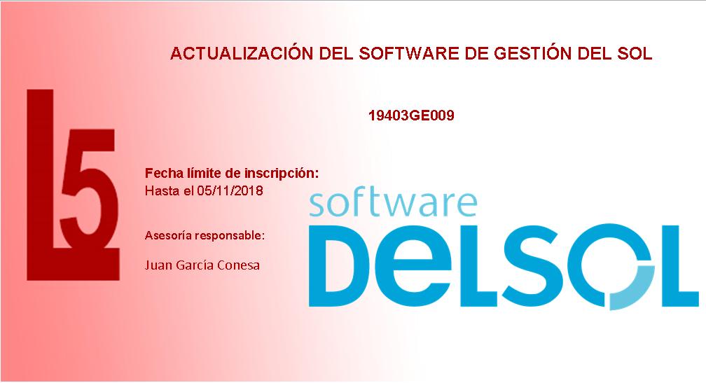 Actualización del software de gestión del Sol