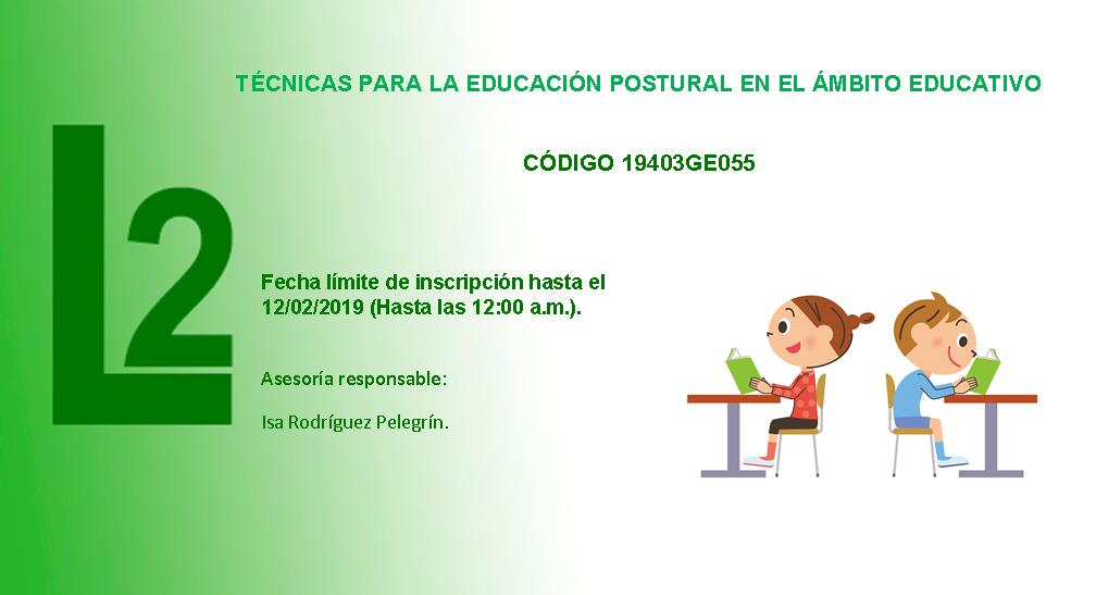 TÉCNICAS PARA LA EDUCACIÓN POSTURAL EN EL ÁMBITO EDUCATIVO