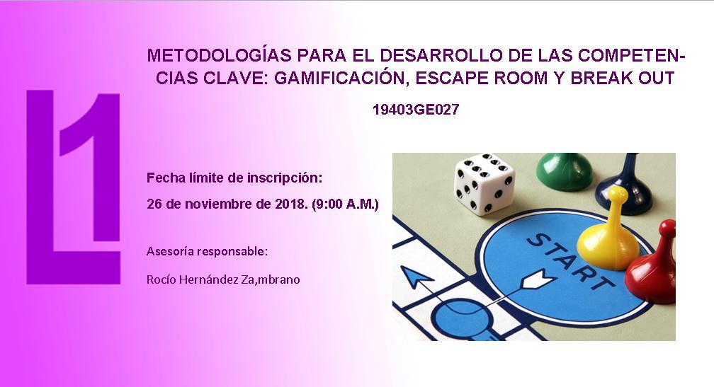 METODOLOGÍAS PARA EL DESARROLLO DE LAS COMPETENCIAS CLAVE: GAMIFICACIÓN
