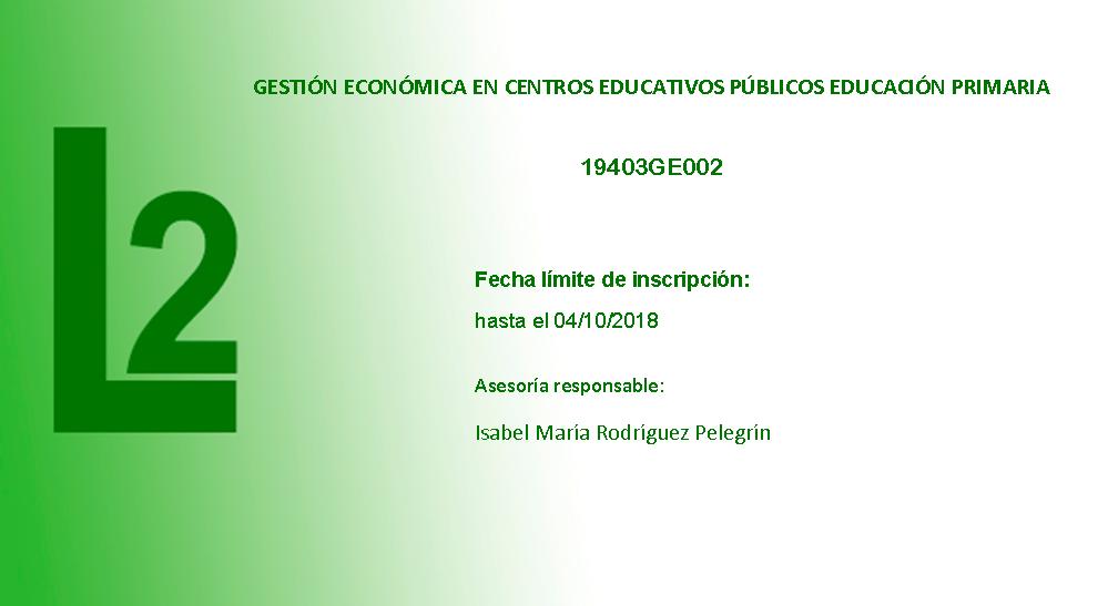 Gestión económica en centros educativos públicos de Educación Primaria