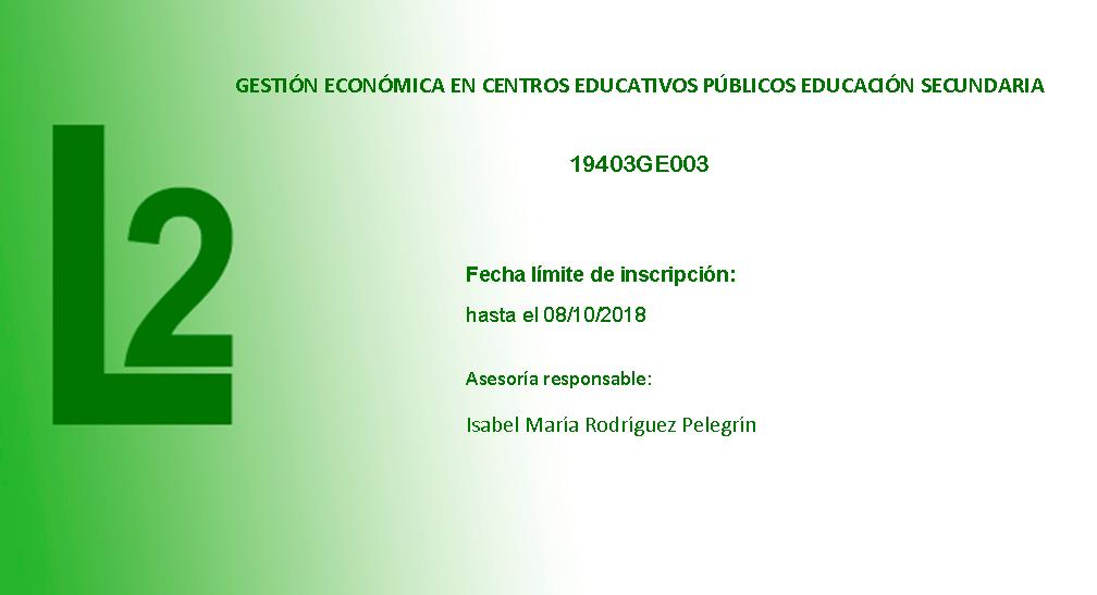Gestión económica en centros eucativos públicos de Educación Secundaria