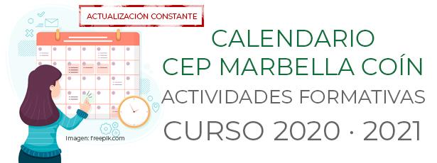 Calendario actividades CEP Marbella-Coin